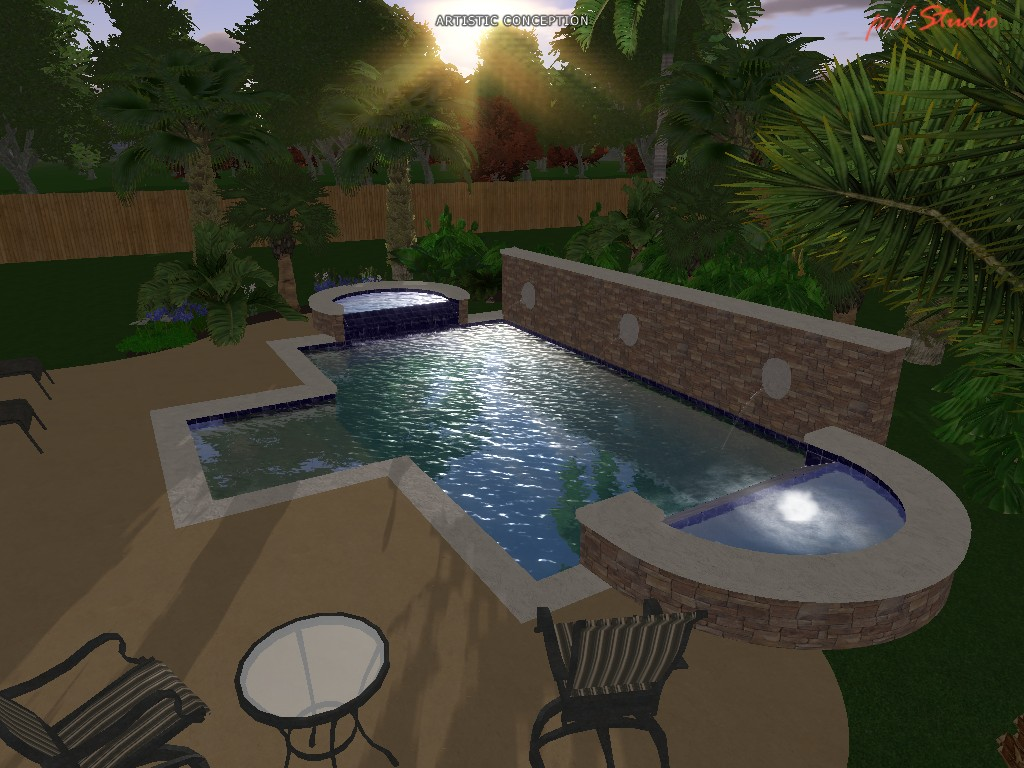 pool design professionals 3d design cad services On pool design concepts