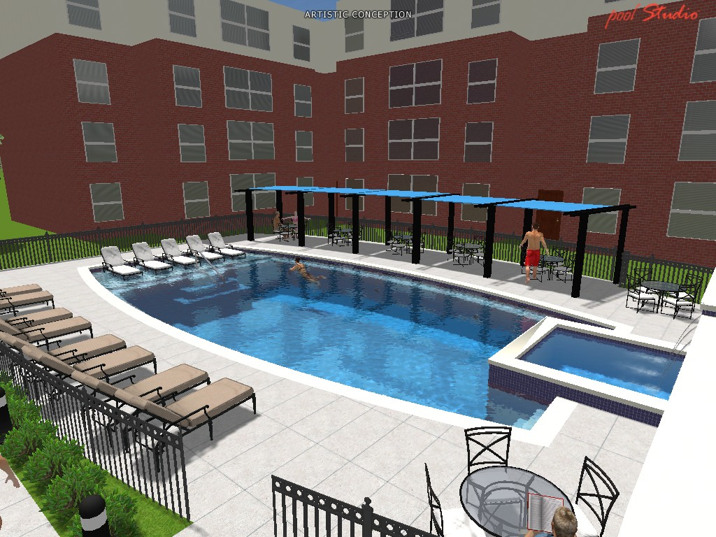 Pool design professionals 3d design cad services for Pool design services