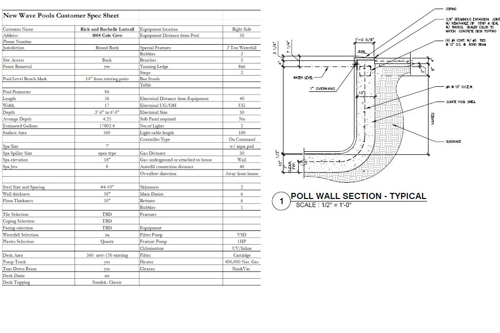 Swimming Pool Construction Specifications : Pool design professionals d cad services
