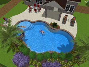 Pool design professionals 3d design cad services for Pool design tool